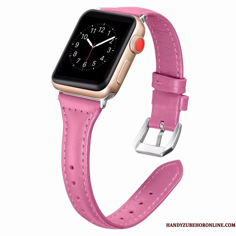 Hoesje Apple Watch Series 2 Leer Fijne Roze, Hoes Apple Watch Series 2