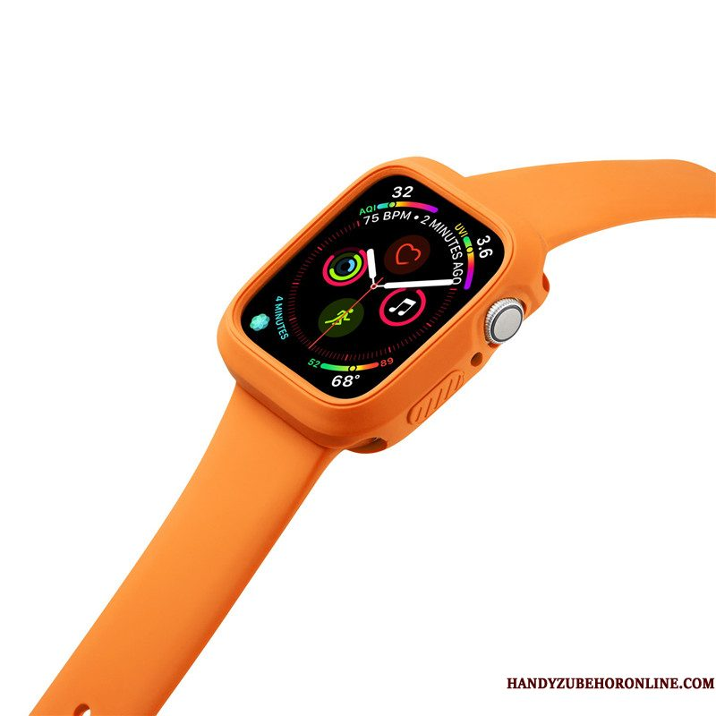 Hoesje Apple Watch Series 2 Siliconen Anti-fall Sport, Hoes Apple Watch Series 2 Oranje