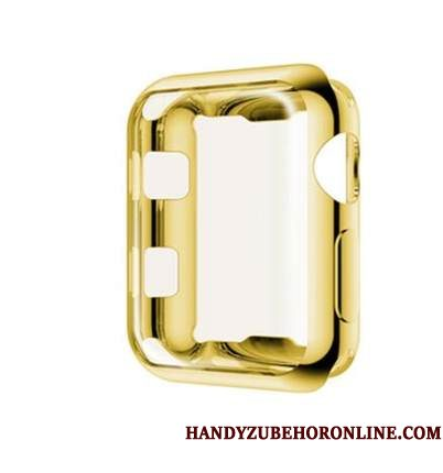 Hoesje Apple Watch Series 2 Zacht Plating Dun, Hoes Apple Watch Series 2 Siliconen Accessoires Goud
