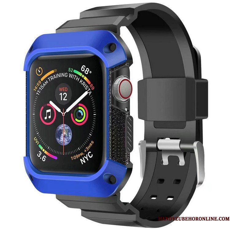 Hoesje Apple Watch Series 4 Bescherming Blauw Pantser, Hoes Apple Watch Series 4 Sport Anti-fall