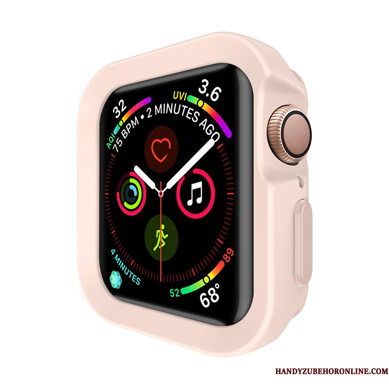 Hoesje Apple Watch Series 4 Siliconen Anti-fall Roze, Hoes Apple Watch Series 4 Bescherming Sport