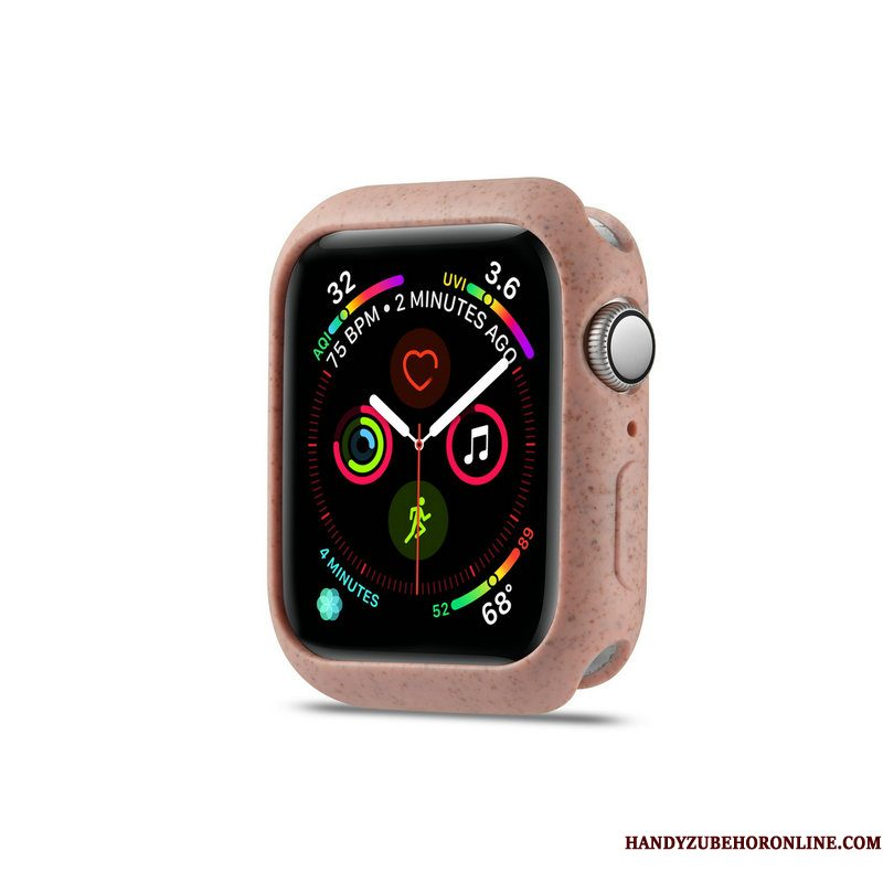 Hoesje Apple Watch Series 4 Zacht Dragon Patroon Schrobben, Hoes Apple Watch Series 4 Bescherming Trend Roze