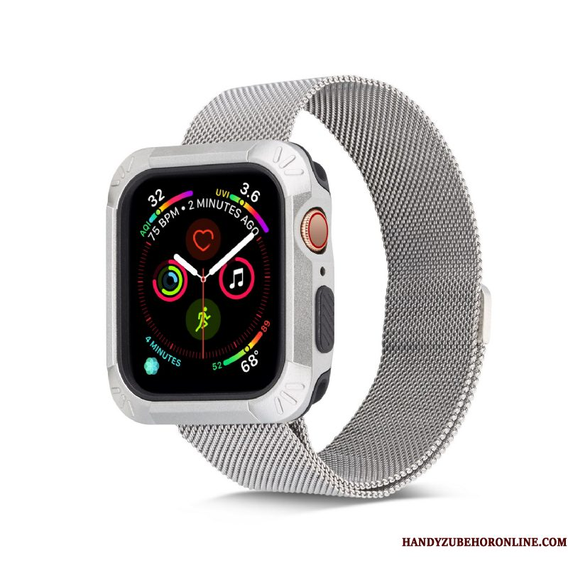 Hoesje Apple Watch Series 4 Zacht Dun Wit, Hoes Apple Watch Series 4 Siliconen Gemeenschappelijk Accessoires