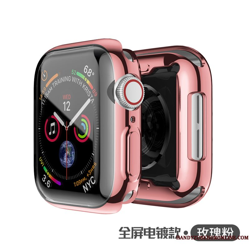 Hoesje Apple Watch Series 4 Zacht Roze Dun, Hoes Apple Watch Series 4 Zakken Plating