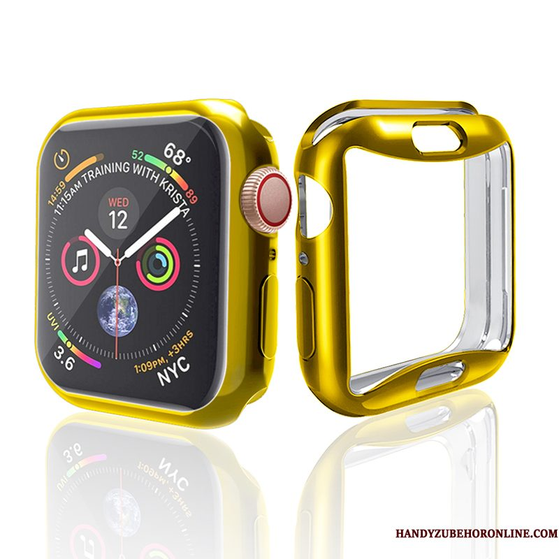 Hoesje Apple Watch Series 4 Zakken Accessoires Trend, Hoes Apple Watch Series 4 Siliconen Anti-fall Goud