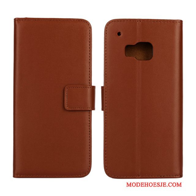 Hoesje Htc One M9 Leer Anti-falltelefoon, Hoes Htc One M9 Folio
