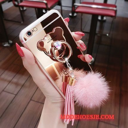 Hoesje Lg G6 Siliconen Gesp Roze, Hoes Lg G6 Ring Pompom