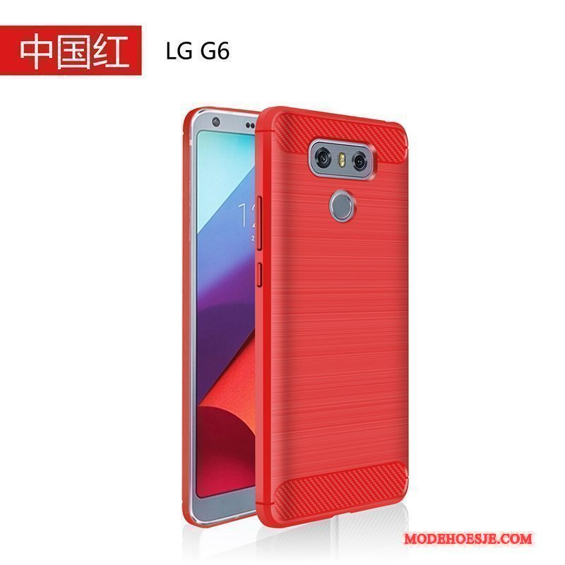Hoesje Lg G6 Siliconen Schrobben Dun, Hoes Lg G6 Zacht Anti-fall Rood