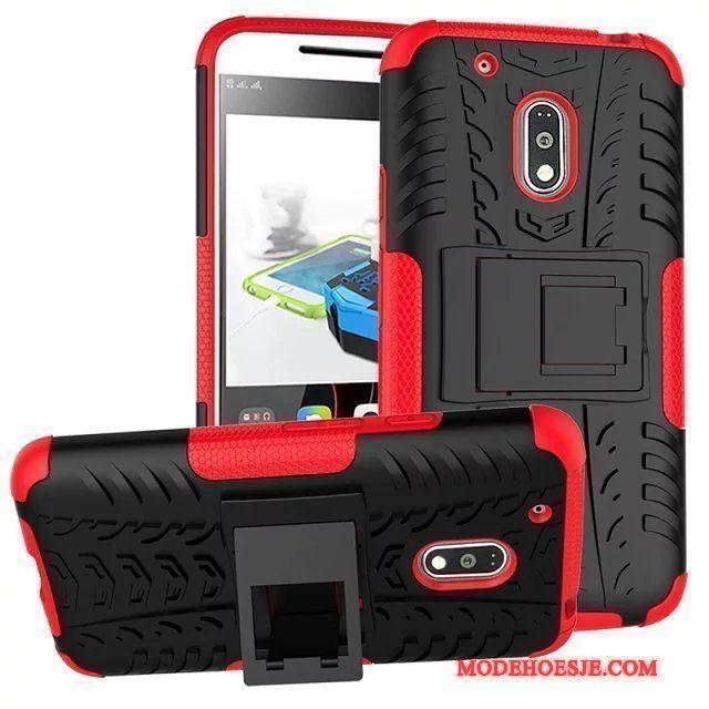 Hoesje Moto G4 Play Bescherming Antislip Rood, Hoes Moto G4 Play Ondersteuning Telefoon Anti-fall