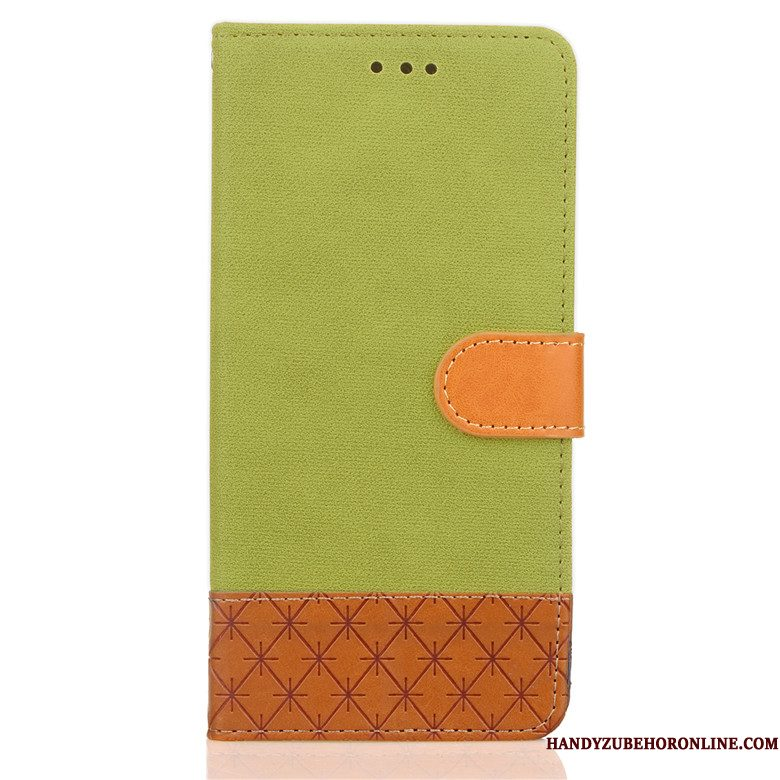 Hoesje Nokia 7 Plus Folio Groen Anti-fall, Hoes Nokia 7 Plus Leer Telefoon