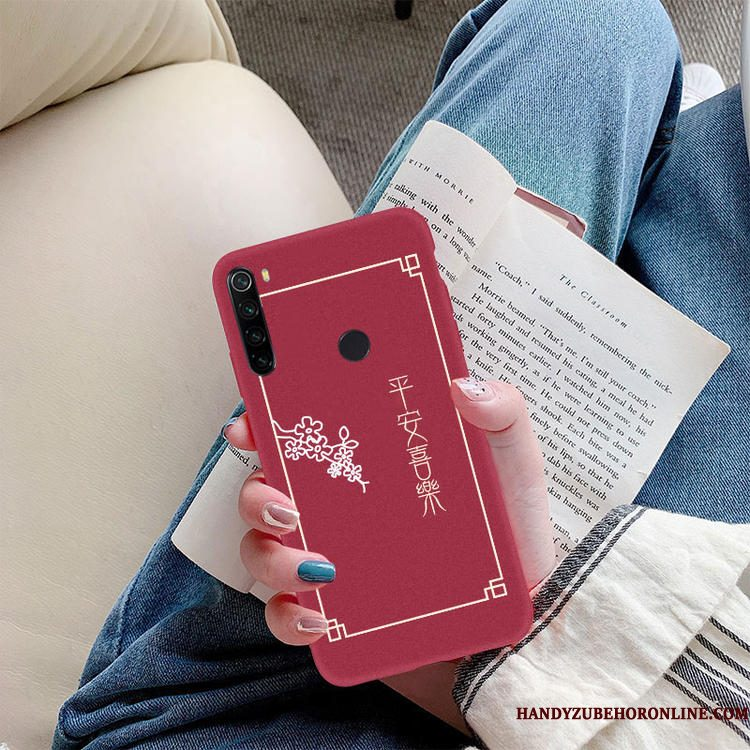 Hoesje Redmi Note 8t Zacht Nieuw Anti-fall, Hoes Redmi Note 8t Siliconen Tempereren Rood