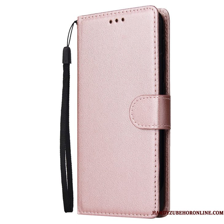 Hoesje Samsung Galaxy A10 Folio Rose Goudtelefoon, Hoes Samsung Galaxy A10 Zacht