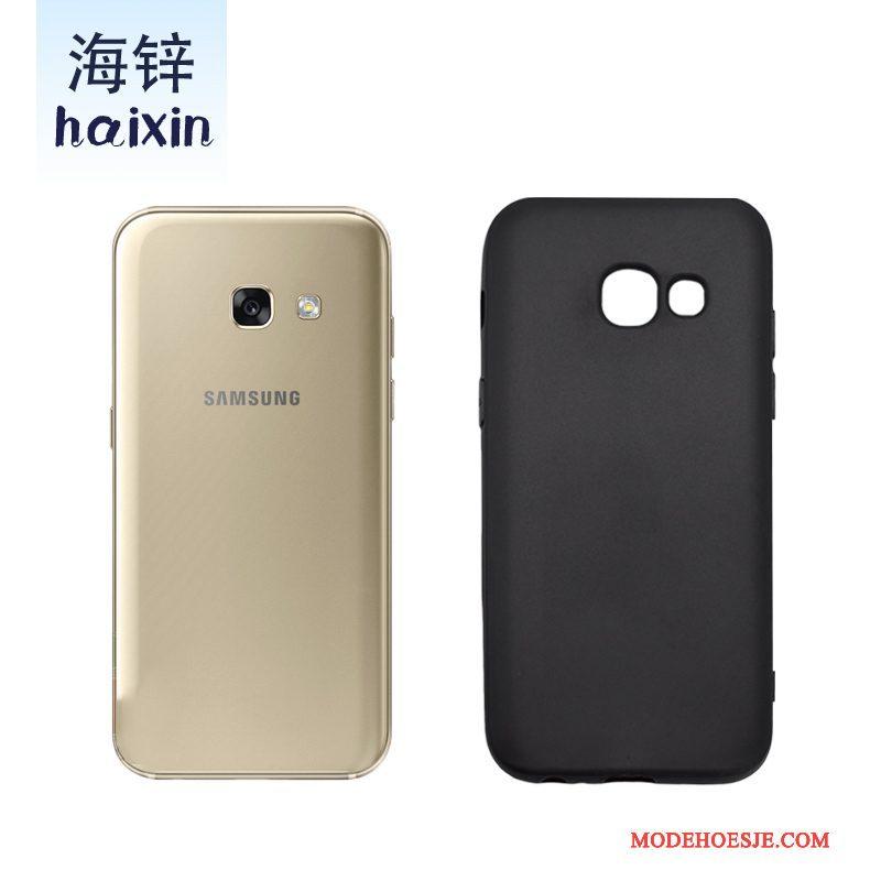 Hoesje Samsung Galaxy A3 2017 Siliconen Telefoon Zwart, Hoes Samsung Galaxy A3 2017 Zakken Schrobben