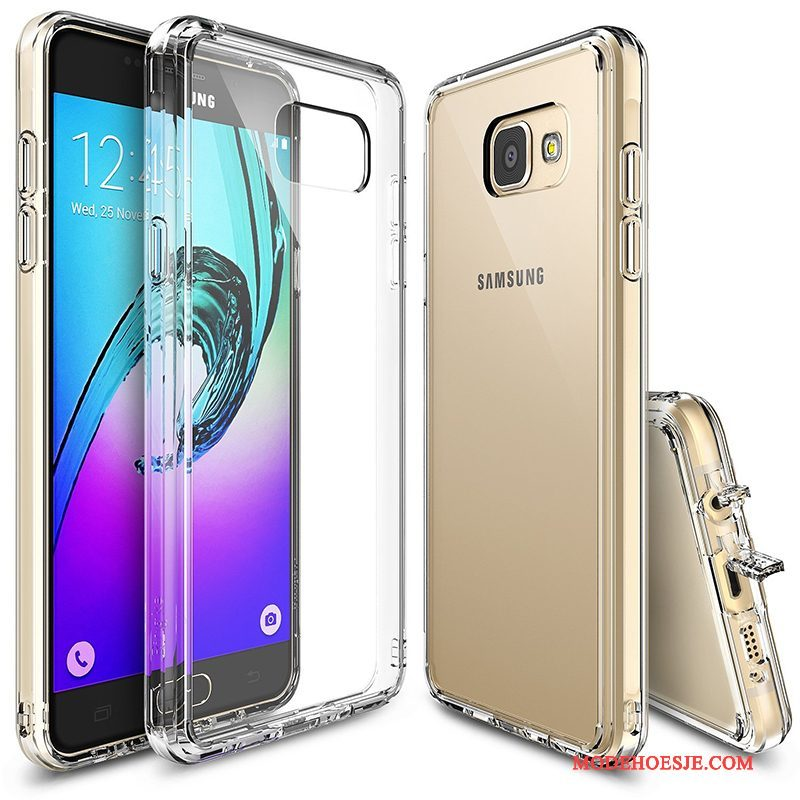 Hoesje Samsung Galaxy A3 2017 Siliconen Wit Anti-fall, Hoes Samsung Galaxy A3 2017 Bescherming Telefoon