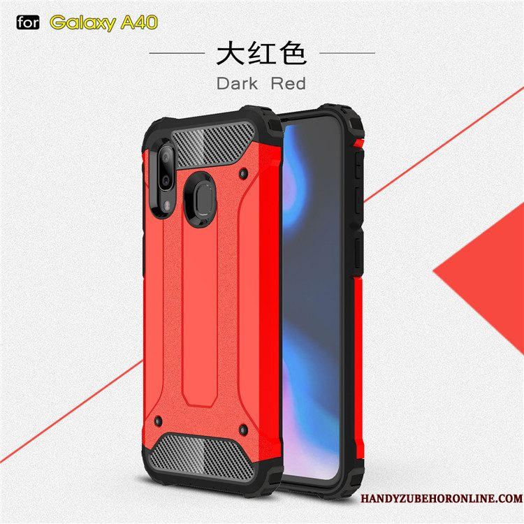 Hoesje Samsung Galaxy A40 Zacht Hard Anti-fall, Hoes Samsung Galaxy A40 Siliconen Trendtelefoon