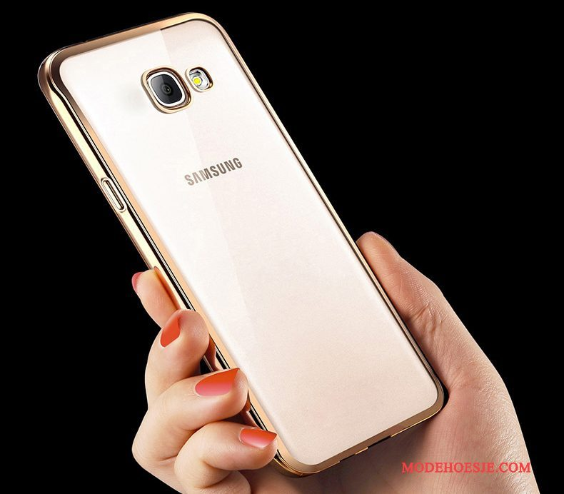 Hoesje Samsung Galaxy A5 2016 Siliconen Goudtelefoon, Hoes Samsung Galaxy A5 2016 Zacht Anti-fall Trend
