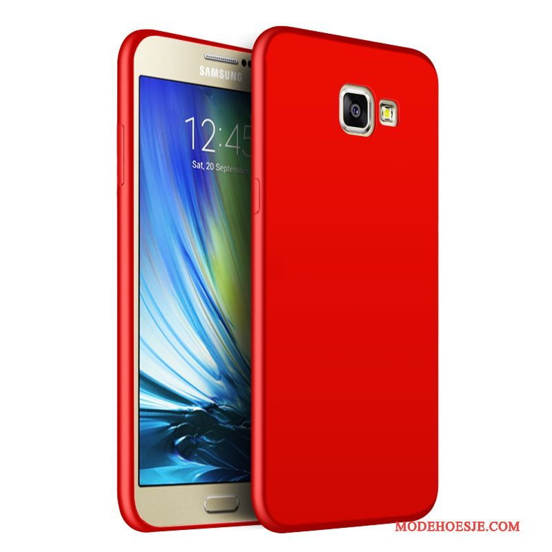 Hoesje Samsung Galaxy A5 2016 Siliconen Schrobbentelefoon, Hoes Samsung Galaxy A5 2016 Zacht Rood