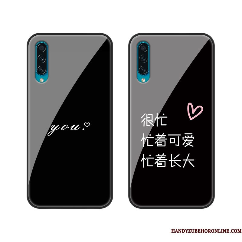 Hoesje Samsung Galaxy A50s Siliconen Glas Trend, Hoes Samsung Galaxy A50s Bescherming Loverstelefoon