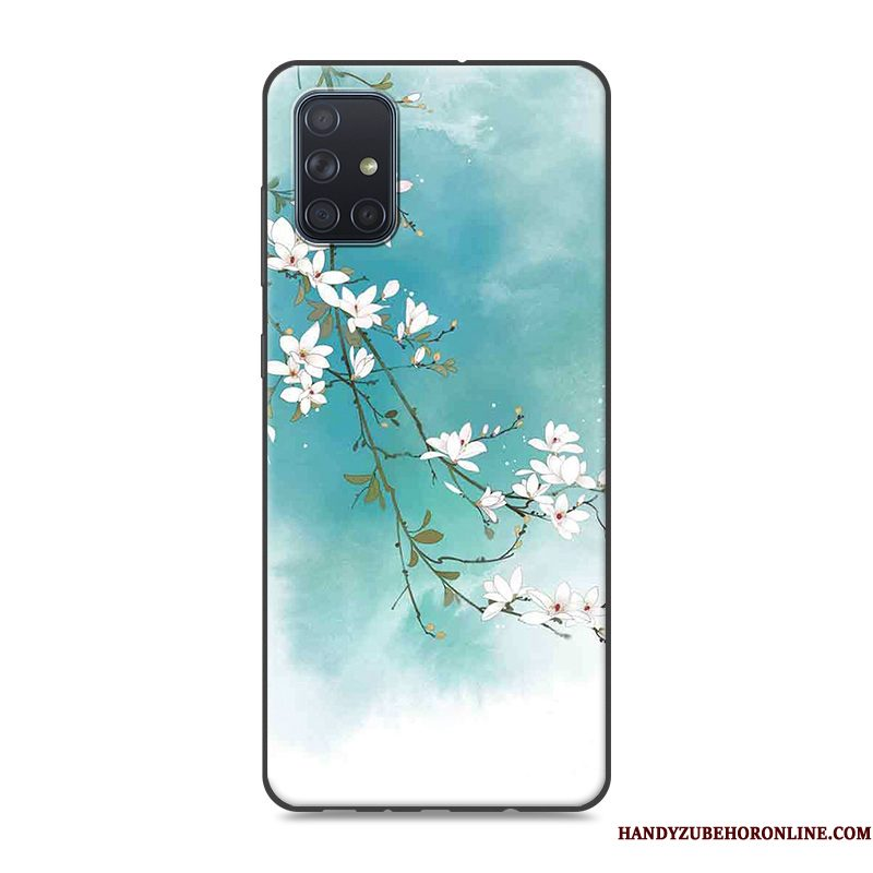 Hoesje Samsung Galaxy A51 Bescherming Chinese Stijl Blauw, Hoes Samsung Galaxy A51 Vintage Trendtelefoon