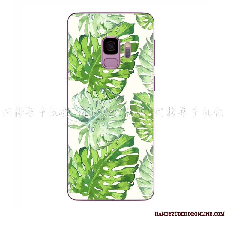 Hoesje Samsung Galaxy A8 2018 Siliconen Vers Nieuw, Hoes Samsung Galaxy A8 2018 Zacht Groen Kunst