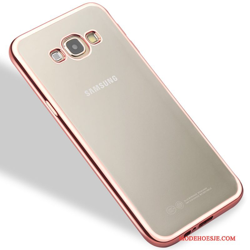 Hoesje Samsung Galaxy A8 Siliconen Anti-fall Trend, Hoes Samsung Galaxy A8 Zacht Telefoon Roze