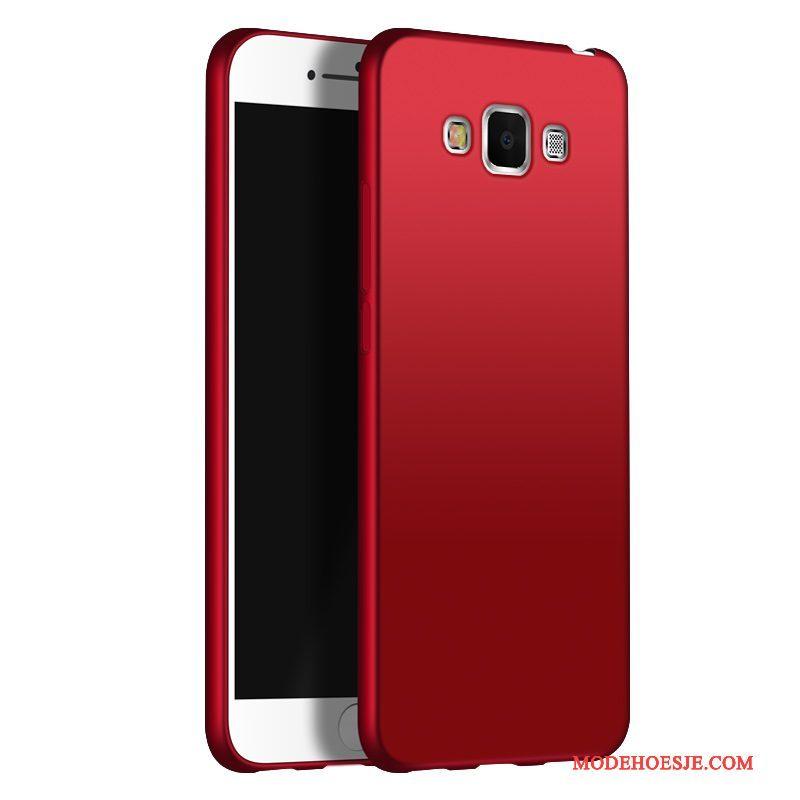 Hoesje Samsung Galaxy A8 Zacht Dun Anti-fall, Hoes Samsung Galaxy A8 Bescherming Trend Rood