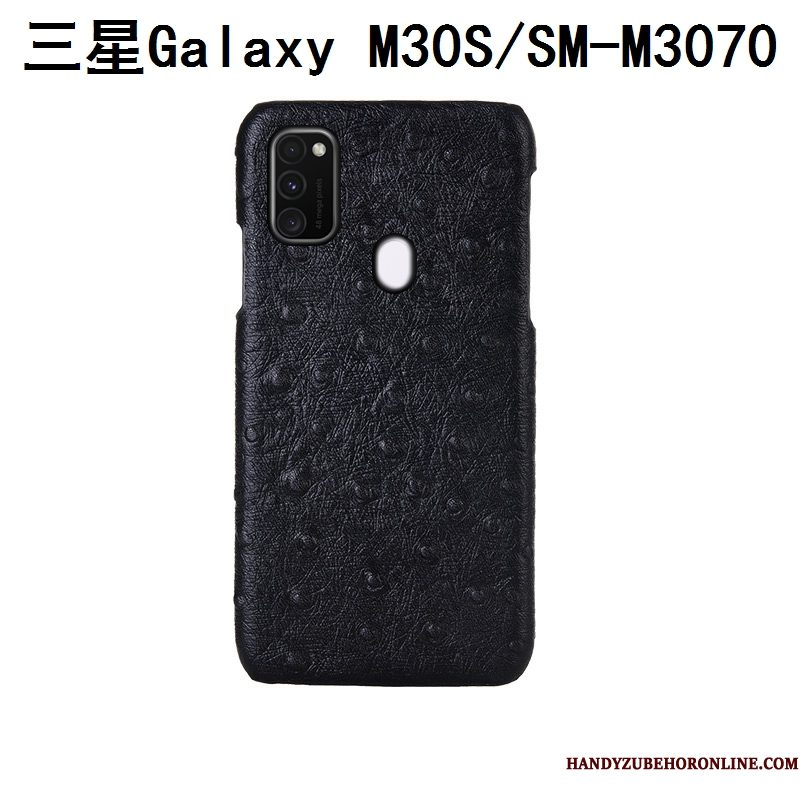 Hoesje Samsung Galaxy M30s Luxe Pas Patroon, Hoes Samsung Galaxy M30s Mode Achterklep Anti-fall