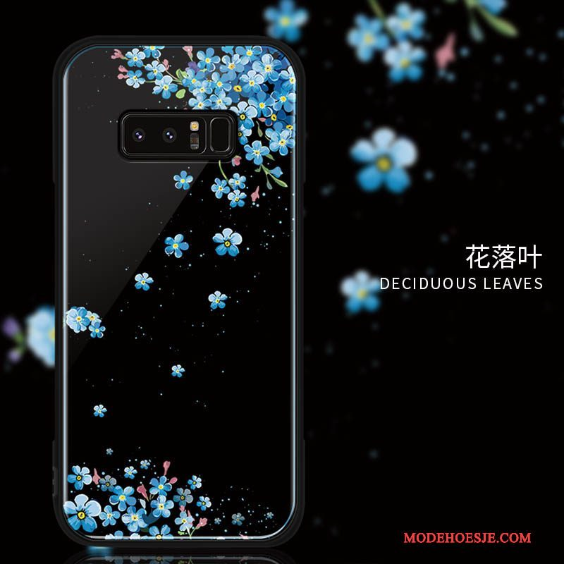 Hoesje Samsung Galaxy Note 8 Bescherming Trend Glas, Hoes Samsung Galaxy Note 8 Zacht Hard Anti-fall