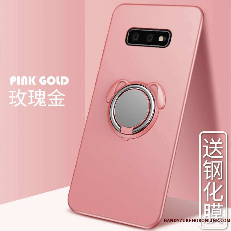 Hoesje Samsung Galaxy S10e Ring Roze, Hoes Samsung Galaxy S10e Autotelefoon