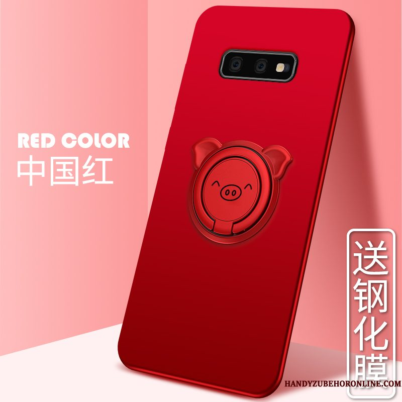 Hoesje Samsung Galaxy S10e Zacht Schrobben Trend, Hoes Samsung Galaxy S10e Siliconen Roodtelefoon