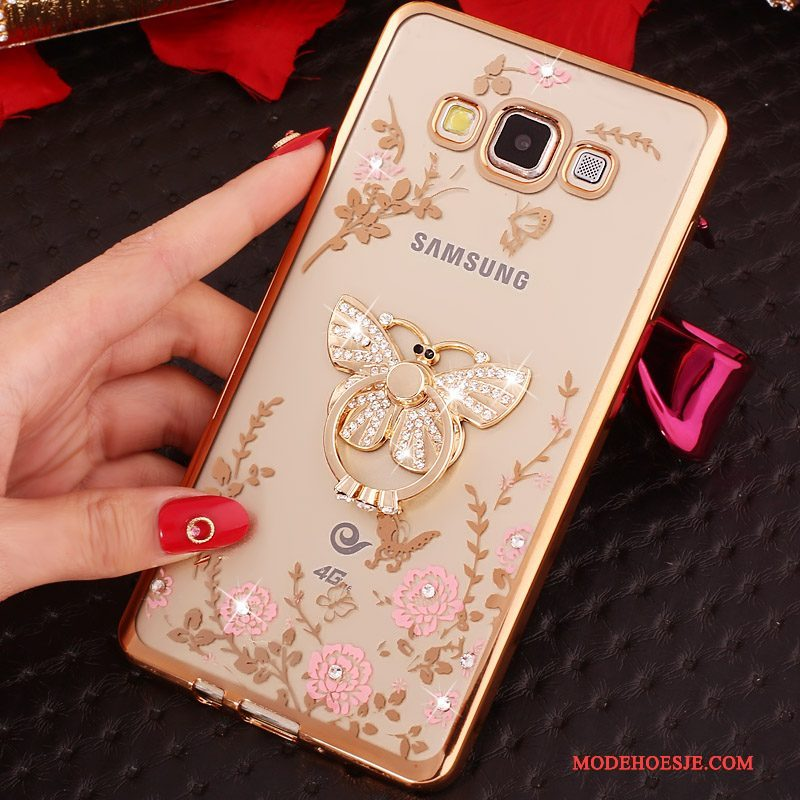 Hoesje Samsung Galaxy S3 Siliconen Ring Dun, Hoes Samsung Galaxy S3 Strass Telefoon Goud