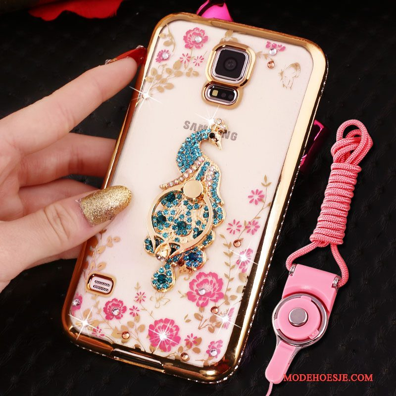 Hoesje Samsung Galaxy S4 Bescherming Telefoon Blauw, Hoes Samsung Galaxy S4 Strass Plating Anti-fall