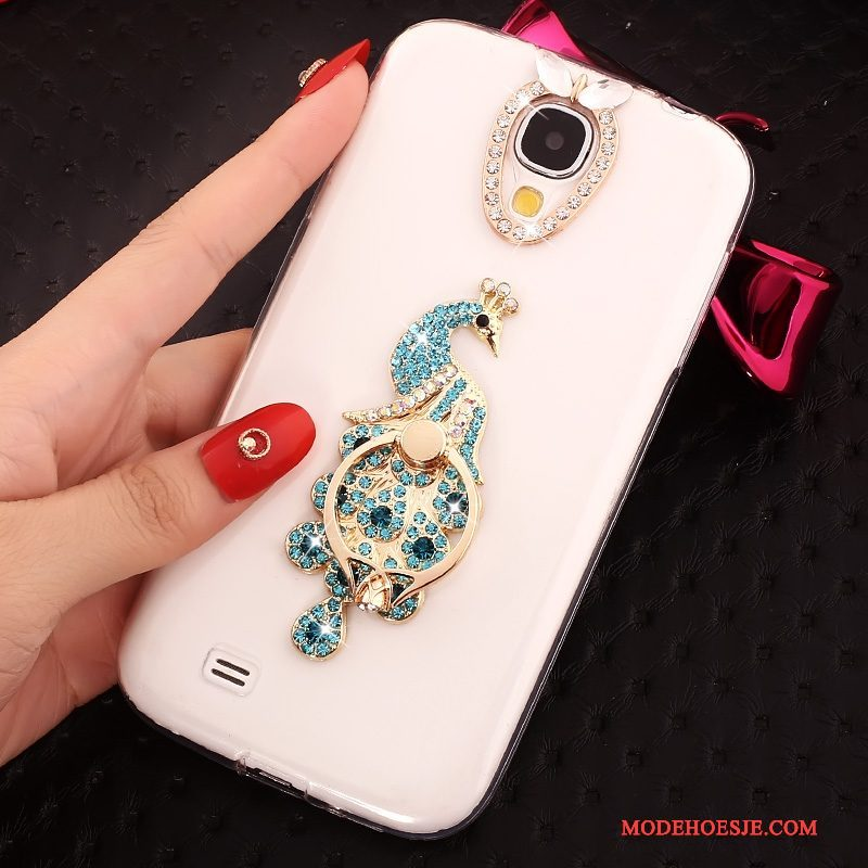 Hoesje Samsung Galaxy S4 Ondersteuning Blauw Ring, Hoes Samsung Galaxy S4 Zacht Telefoon