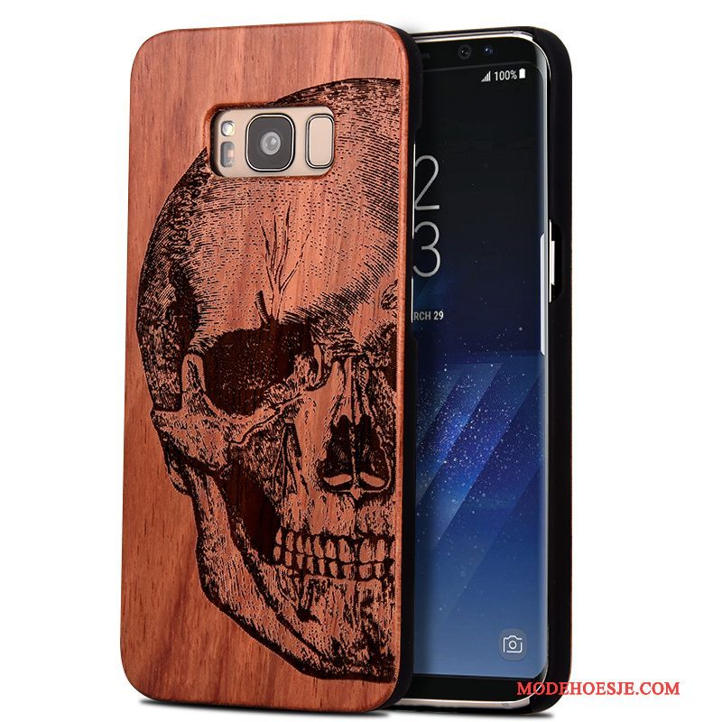 Hoesje Samsung Galaxy S8 Bescherming Totem Sculptuur, Hoes Samsung Galaxy S8 Rood Massief Hout