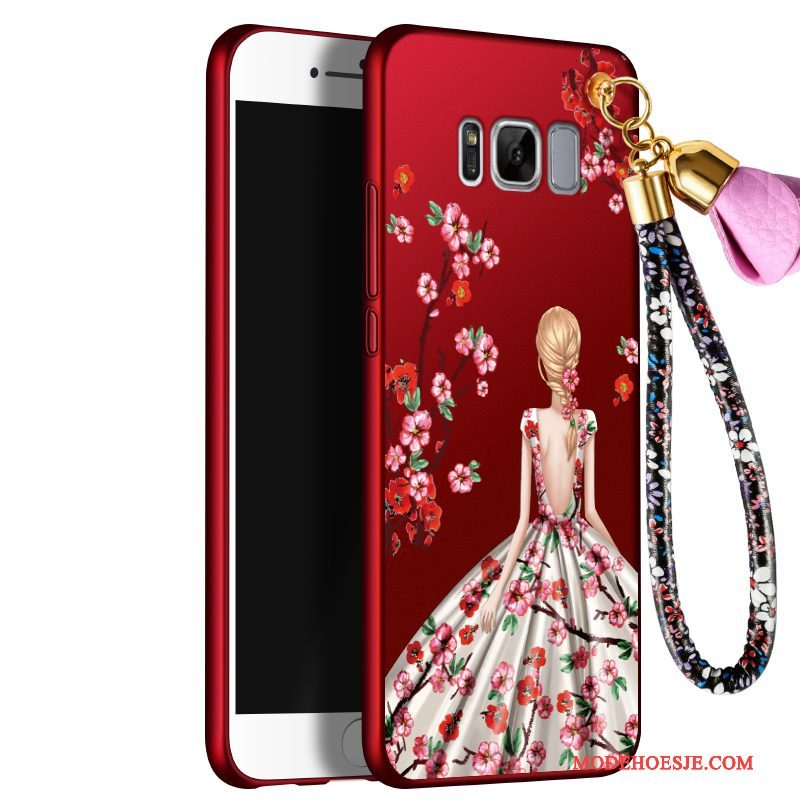 Hoesje Samsung Galaxy S8 Siliconen Rood Anti-fall, Hoes Samsung Galaxy S8 Bescherming Telefoon