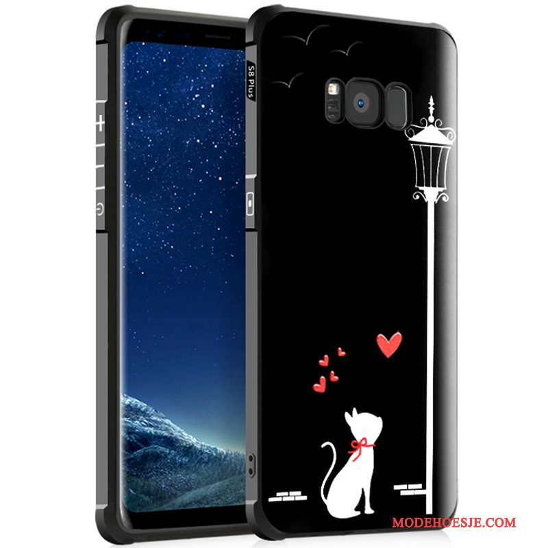Hoesje Samsung Galaxy S8+ Spotprent Trend Zwart, Hoes Samsung Galaxy S8+ Siliconen Anti-fall Gasbag