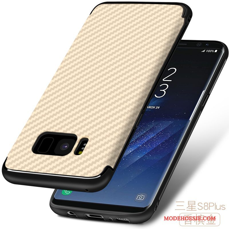 Hoesje Samsung Galaxy S8+ Zacht Hard Fiber, Hoes Samsung Galaxy S8+ Siliconen Anti-fall Patroon