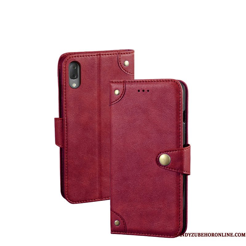 Hoesje Sony Xperia L3 Scheppend Rood Persoonlijk, Hoes Sony Xperia L3 Vintage Telefoon Kaart