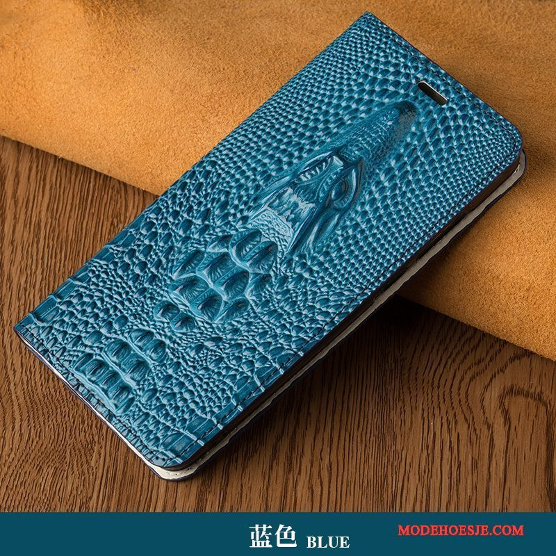 Hoesje Sony Xperia Z5 Compact Luxe Pauwentelefoon, Hoes Sony Xperia Z5 Compact Leer Blauw Persoonlijk