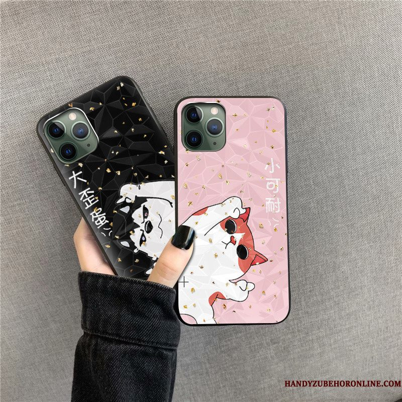 Hoesje iPhone 11 Pro Max Zwart Patroon, Hoes iPhone 11 Pro Max Trend Ruit