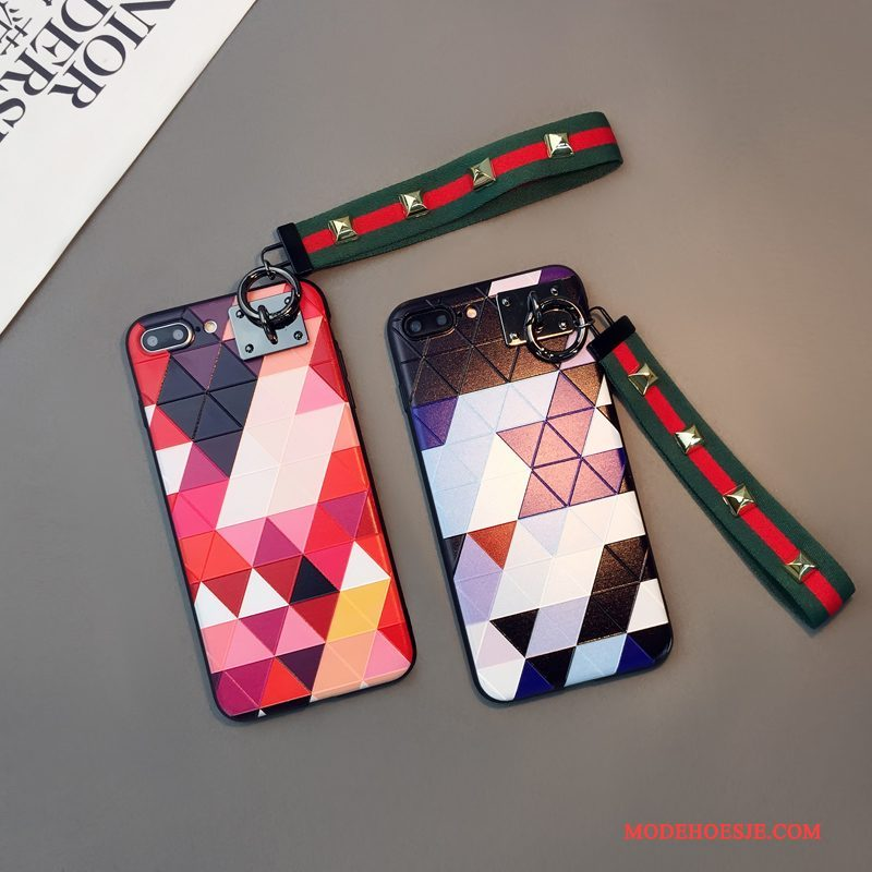 Hoesje iPhone 6/6s Plus Kleur Ruit Lovers, Hoes iPhone 6/6s Plus Reliëf Hangertelefoon