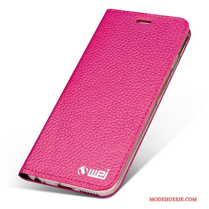 Hoesje iPhone 6/6s Plus Leer Roodtelefoon, Hoes iPhone 6/6s Plus