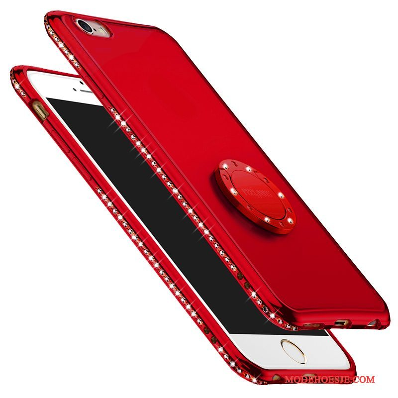 Hoesje iPhone 6/6s Plus Siliconen Trend Rood, Hoes iPhone 6/6s Plus Zakken Nieuw Anti-fall