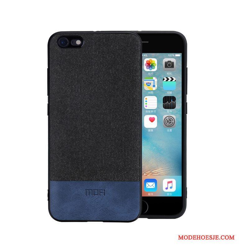 Hoesje iPhone 6/6s Zakken Zwarttelefoon, Hoes iPhone 6/6s Siliconen Trend Anti-fall