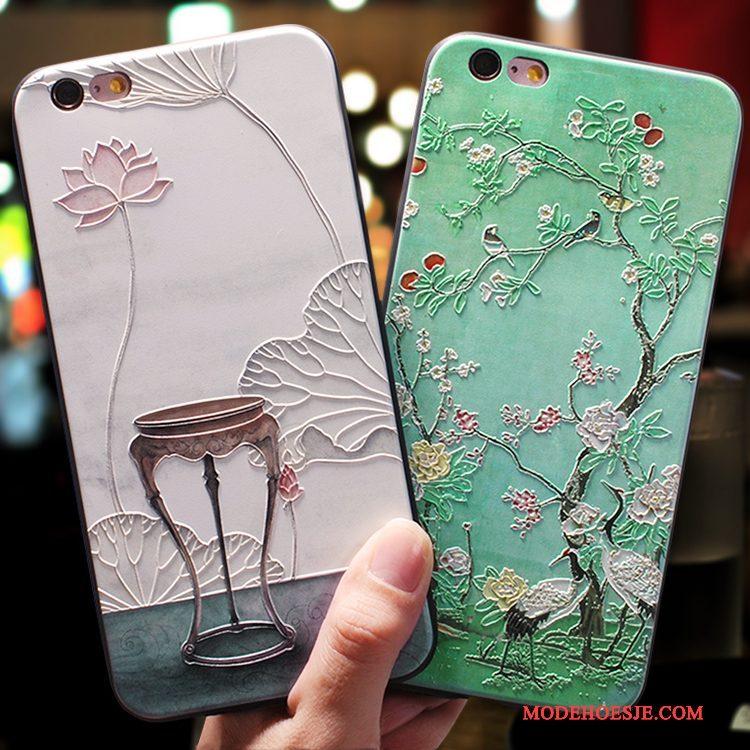 Hoesje iPhone 7 Plus Zakken Chinese Stijl Hanger, Hoes iPhone 7 Plus Siliconen Elegante Groen