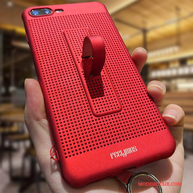 Hoesje iPhone 8 Plus Scheppend Putelefoon, Hoes iPhone 8 Plus Siliconen Rood Anti-fall