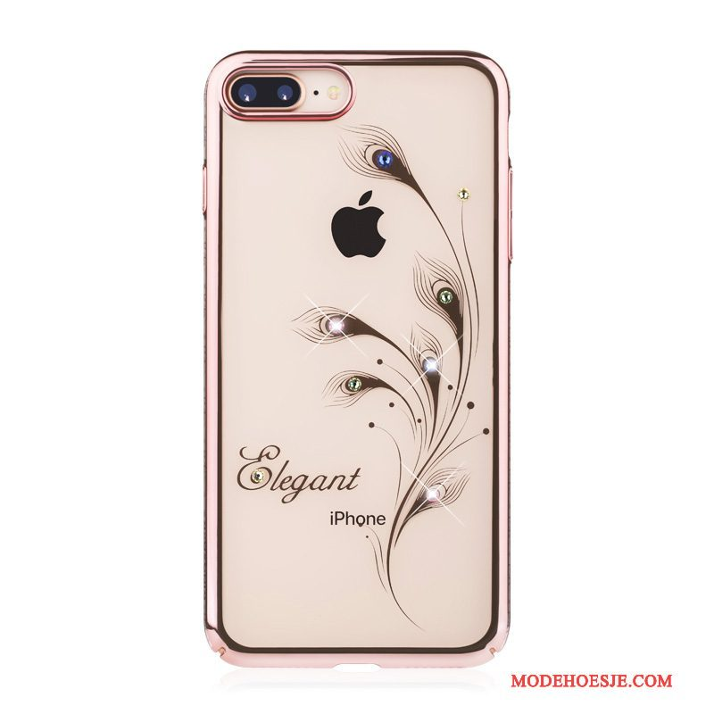 Hoesje iPhone 8 Plus Zakken Hardtelefoon, Hoes iPhone 8 Plus Luxe Anti-fall Roze
