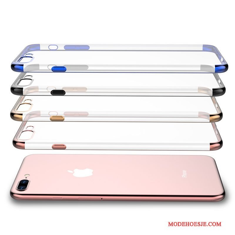 Hoesje iPhone 8 Siliconen Doorzichtig Anti-fall, Hoes iPhone 8 Zacht Telefoon