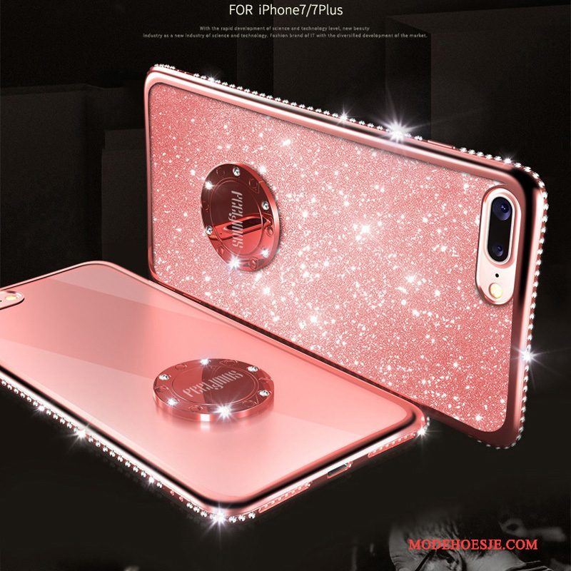 Hoesje iPhone 8 Strass Groen Rood, Hoes iPhone 8 Roze Goud