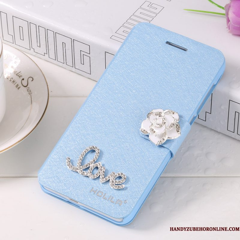 Hoesje iPhone Xs Max Leer Telefoon Blauw, Hoes iPhone Xs Max Folio Anti-fall